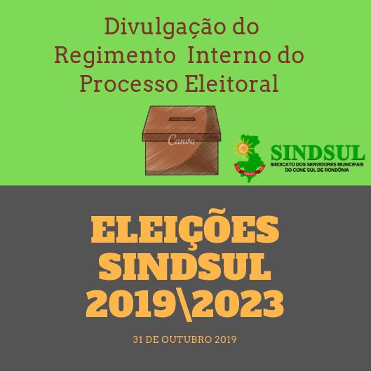 Sindsul divulga Instrução Normativa do Regimento Interno do Processo Eleitoral; confira